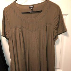 Size 0 Olive Green Torrid Dress